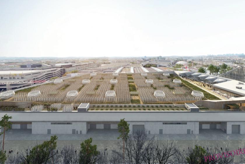 Communiqué : bientôt à Paris la plus grande ferme urbaine en toiture au monde